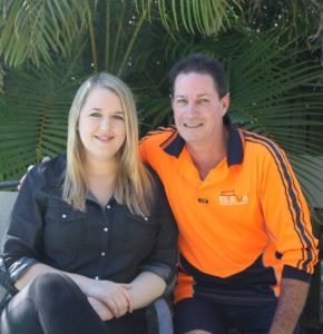 Imogen Donaghy and bricklayer Adrian Rowe who started to resuscitate her when she went into cardiac arrest in a Cleveland store. Photo: Cheryl Goodenough